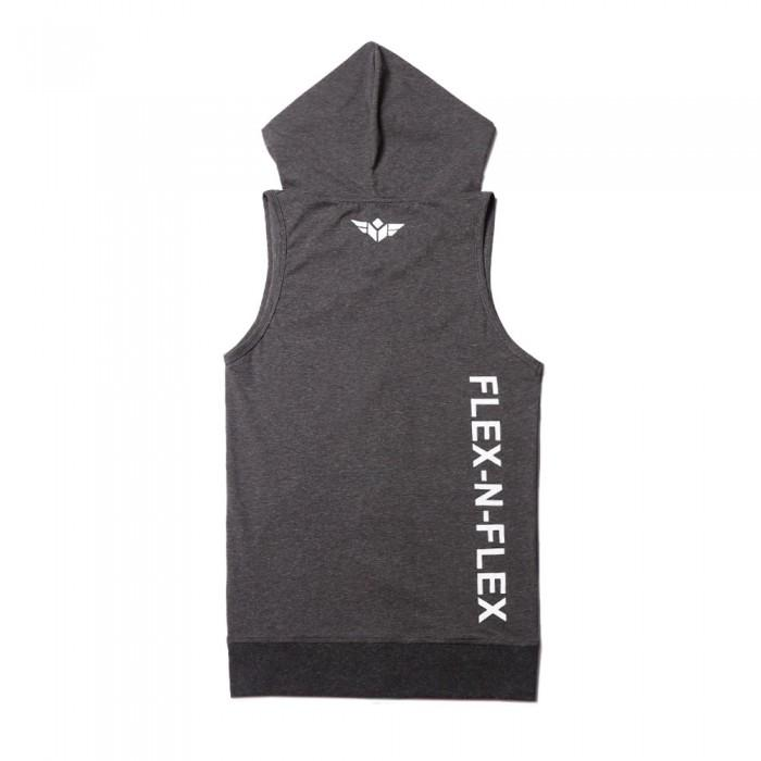 FLEX-N-FLEX SLEEVELESS ZIPPER HOODIE - FLEX-N-FLEX
