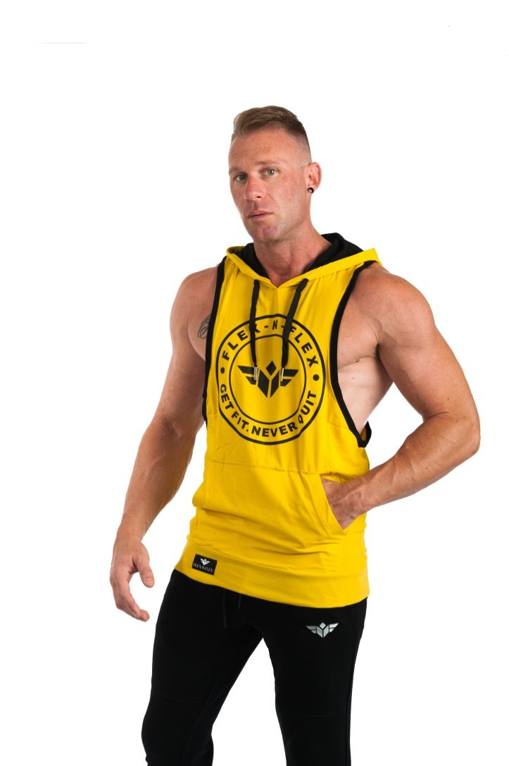 GET FIT NEVER QUIT STRINGER HOODIE - FLEX-N-FLEX
