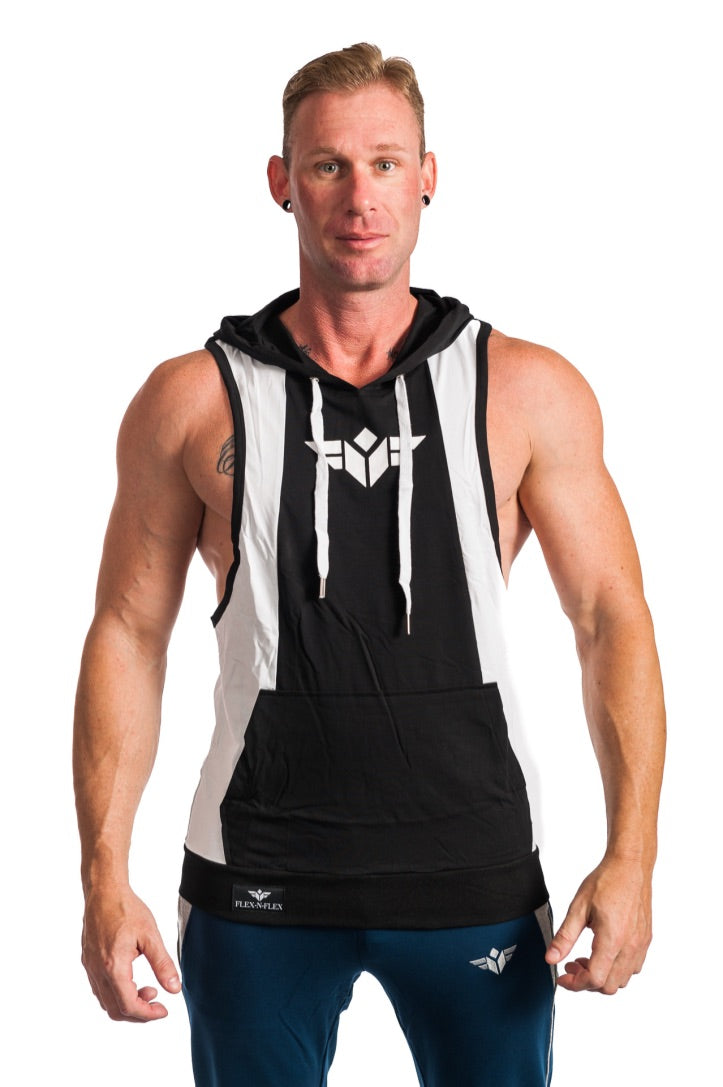 BORN TO LIFT TWO TONE STRINGER HOODIE - FLEX-N-FLEX
