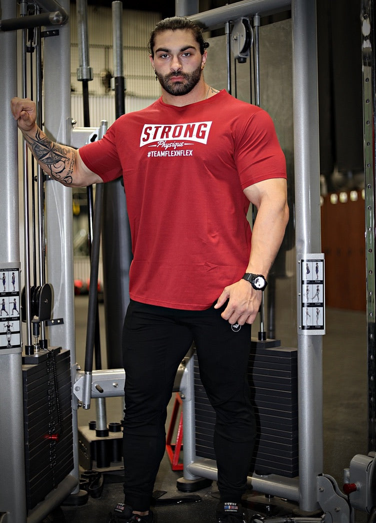 STRONG PHYSIQUE V-NECK TEE - FLEX-N-FLEX