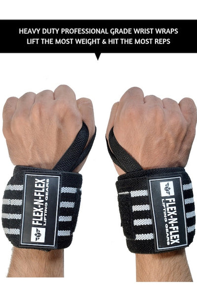 LIFTING WRIST WRAPS + STRAPS BUNDLE - FLEX-N-FLEX