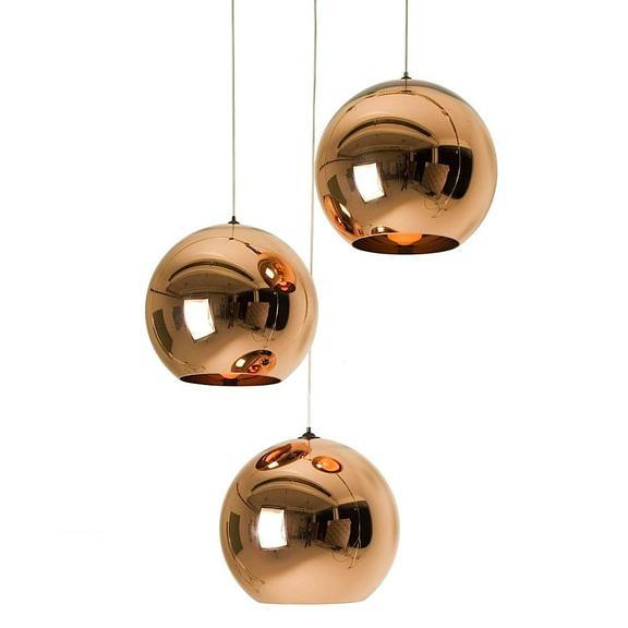 Modern Metallic Orb Pendant Light, Pendant Light, Ocean Decor, Beach Decor - Coastal & High Rise