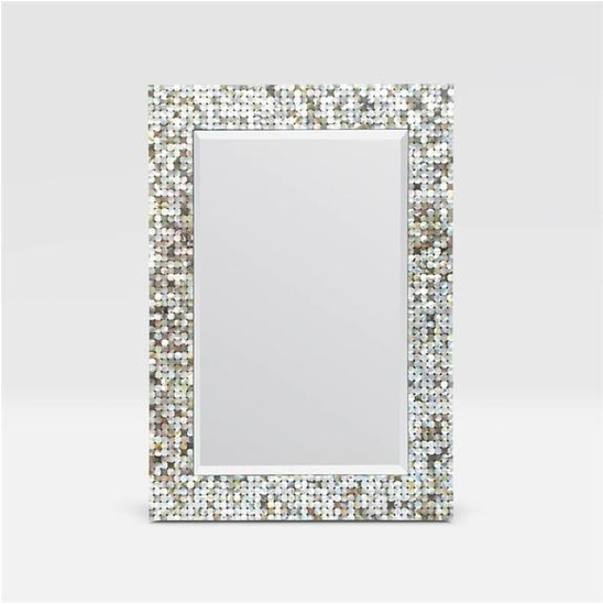 Mother of Pearl Mirror, Coastal & High Rise, Rectangle Mirror, contemporary coastal décor, coastal furnishings, contemporary coastal décor, modern coastal décor - Coastal & High Rise