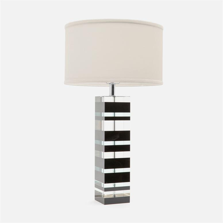 Contemporary Crystal Table Lamp, Coastal & High Rise, Table Lamp