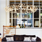 White Acrylic Firefly Chandelier, Coastal & High Rise, Chandelier