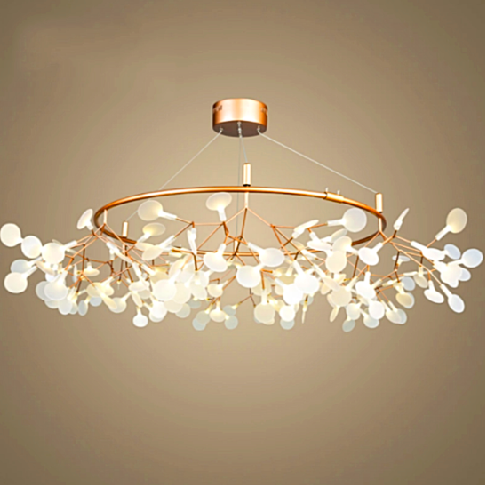 White Acrylic Firefly Chandelier, Chandelier, Ocean Decor, Beach Decor - Coastal & High Rise