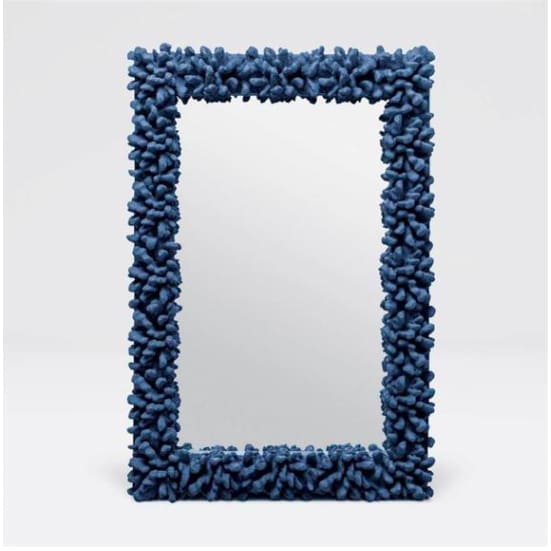Blue Coral Reef Mirror, Coastal & High Rise, Rectangle Mirror, contemporary coastal décor, coastal furnishings, contemporary coastal décor, modern coastal décor - Coastal & High Rise
