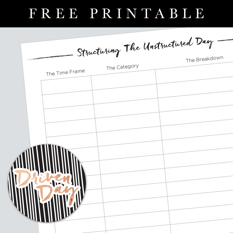 Structuring the Unstructured Day Printable