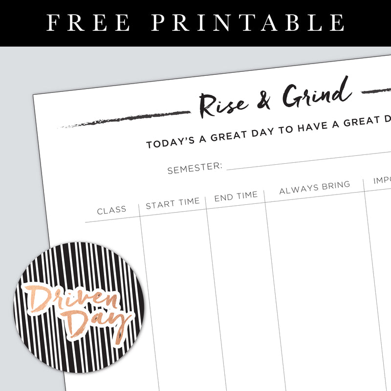 Rise and Grind Printable