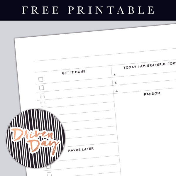 Daily Page Template Printable