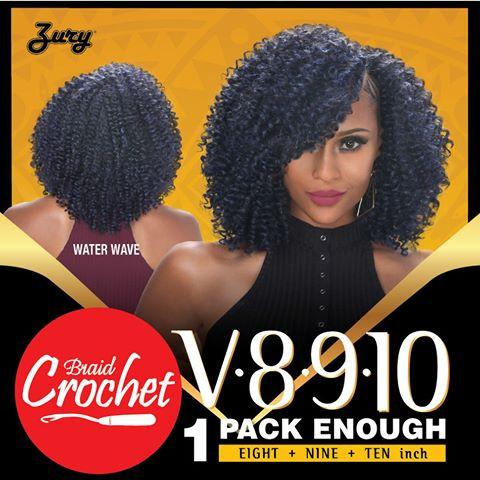 Zury WATER WAVE Synthetic Crochet Braid- V8910 Naturali Star (colour 1)-Beauty-BIFA Store-bifastore