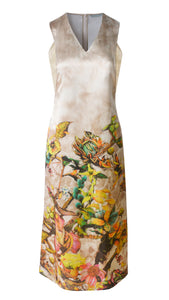 Tiffany Printed Drop Arm Dress - xllullan
