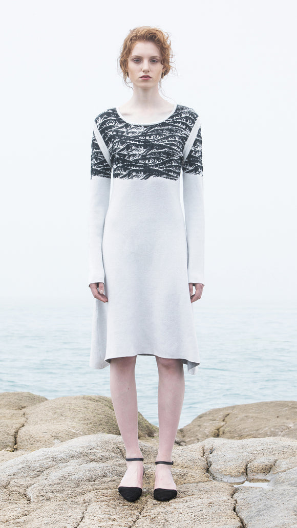 Verena Intarsia Droplet Pattern Knit Dress - xllullan