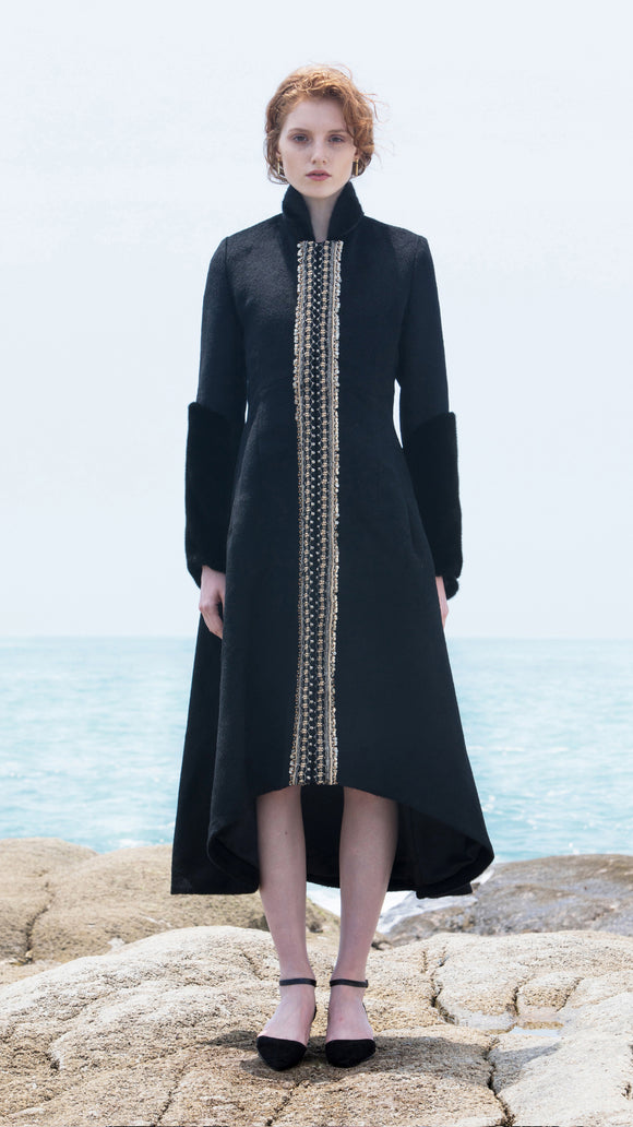 Evelina Mink Collar/Cuff with Hand-Beaded Waist - xllullan