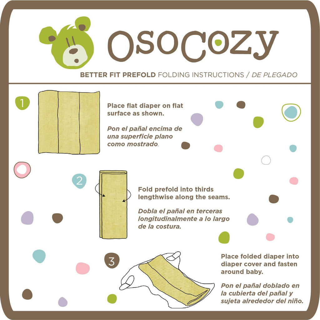 OsoCozy ORGANIC Cotton Prefolds - 6 Pack