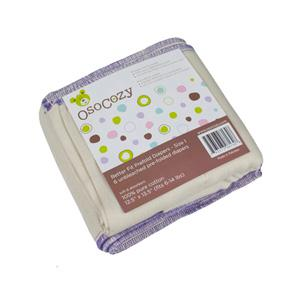Osocozy UNBLEACHED Better Fit Prefolds - 6 Pack