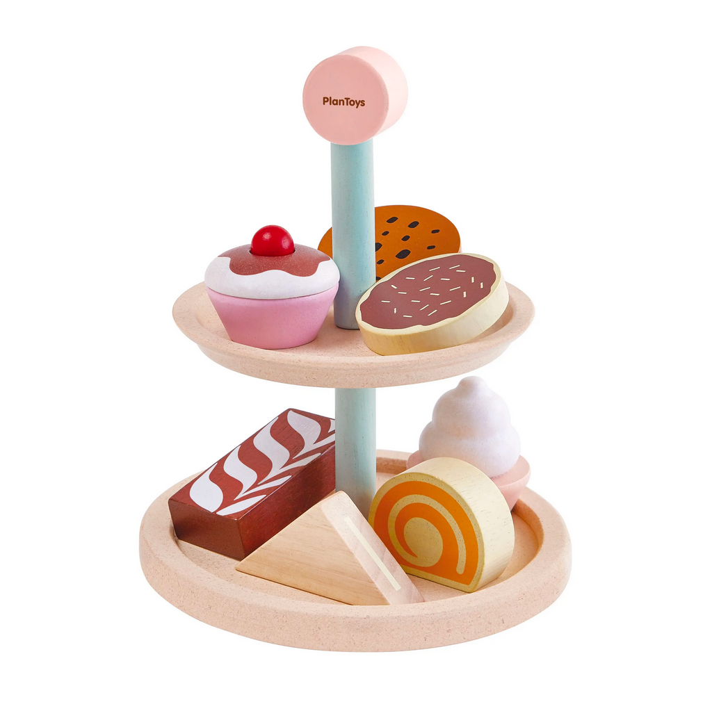 Wooden Bakery Stand Set