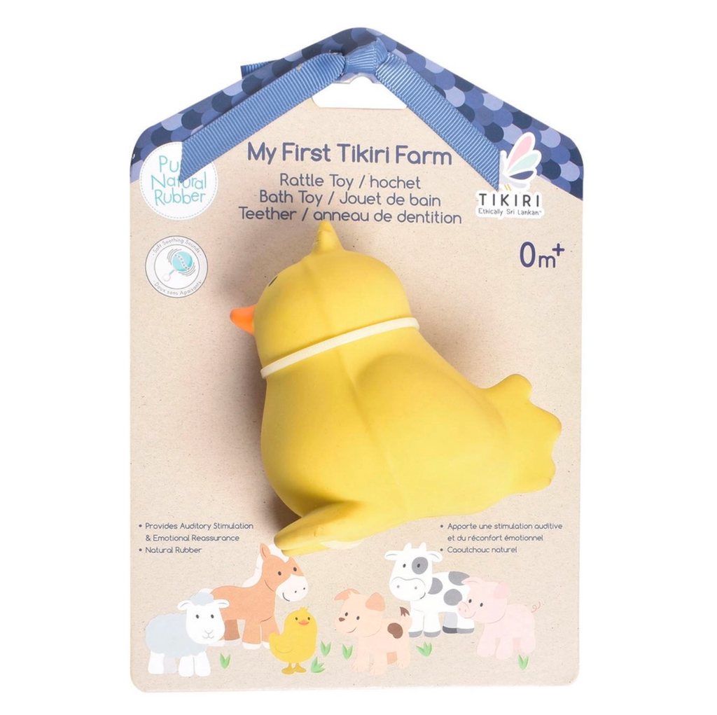 Chick - My First Farm Natural Rubber Toy