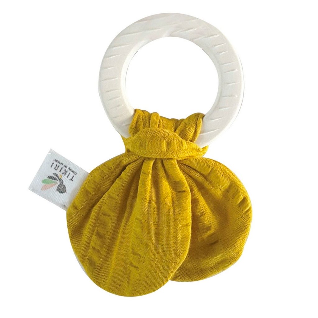 Tikiri Safari Teething Ring - Mustard Yellow