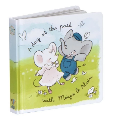 A Day at the Park with Meiya and Alvin - Board Book
