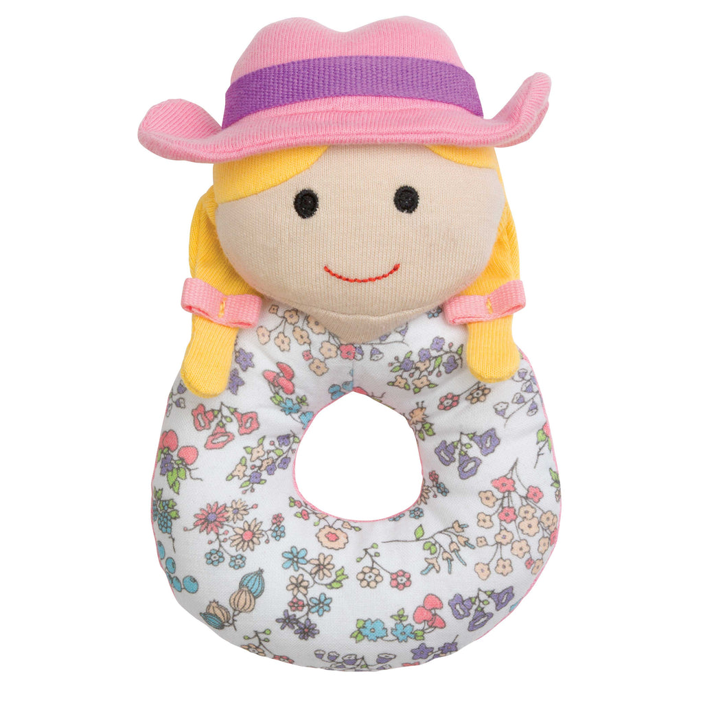 Organic Farm Girl Rattle
