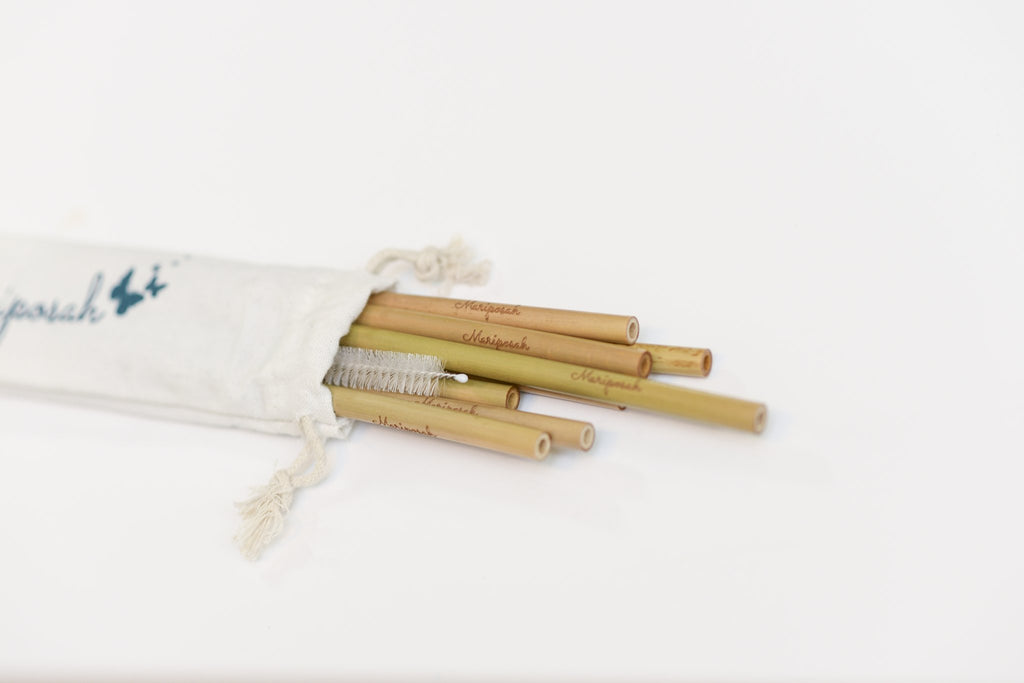 Mariposah 8 Bamboo Reusable Straws