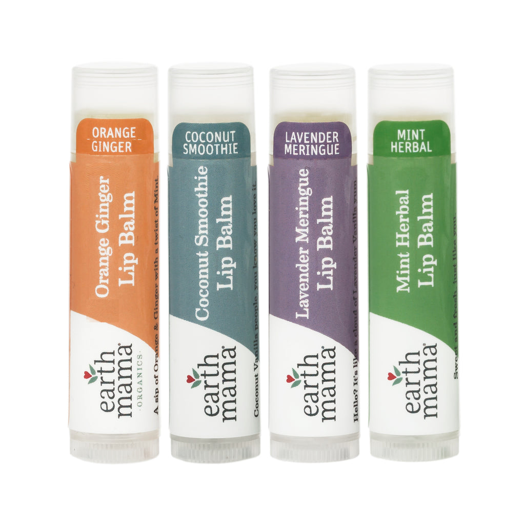 Earth Mama Organics LIP BALM Pack of 4