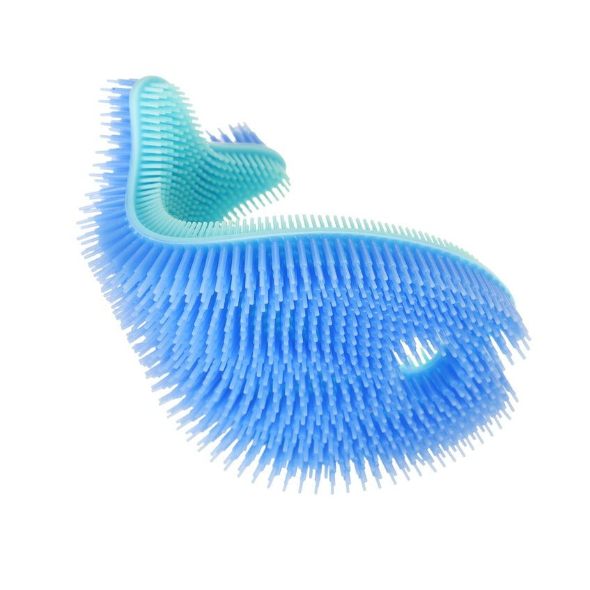 Fish Silicone Bath Scrub - Blue