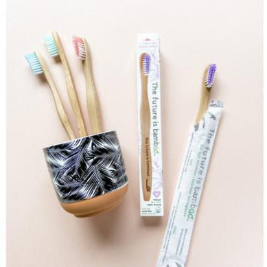ADULT Soft Bamboo Toothbrush - Single - Choose Color