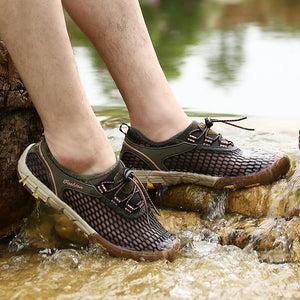 Men Mesh Breathable Outdoor Hiking Water Friendly Sneakers 129321