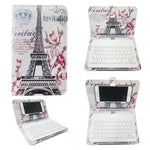 Wireless Keyboard Case Upgraded Bluetooth Version Portable PU Leather for iPhone Android Mobile Phone