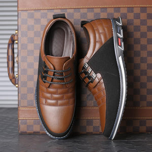 Shoes - Big Size Men's Oxfords Leather Shoes