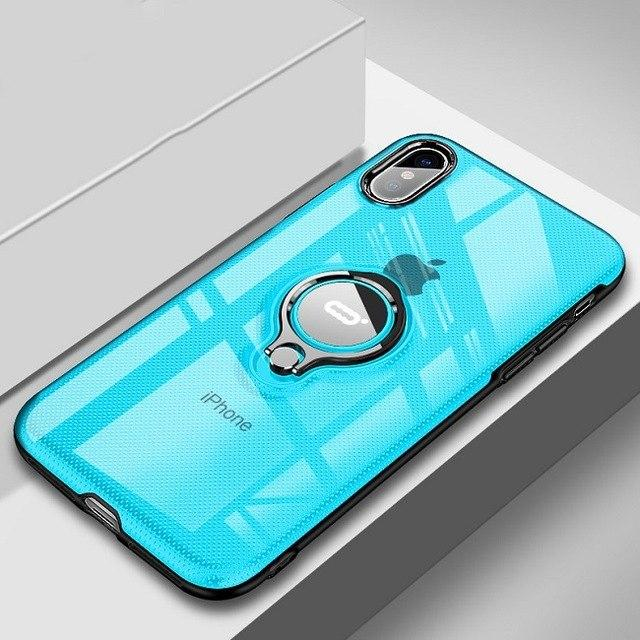 Fashion Magnetic Bracket Case For iPhone XS/XSMax/X/8/7