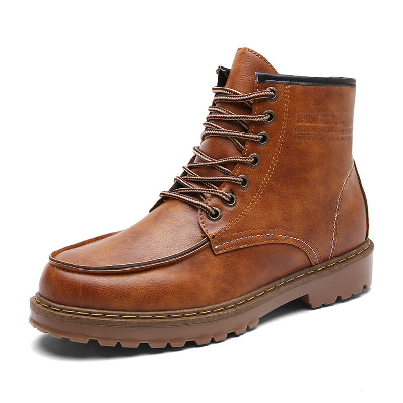 Men's Martin Boots Retro Casual Ankle Boots Tooling Shoes Boots Rubber Sole