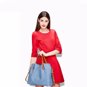 Genuine Leather Tote Large Handbags for Women