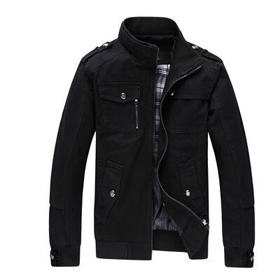 Men's Casual Jacket Army Military Windbreaker Jacket Coats Overcoat