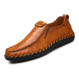 Men Loafers Shoes - Comfortable Men Leather Flat Driving Moccasins