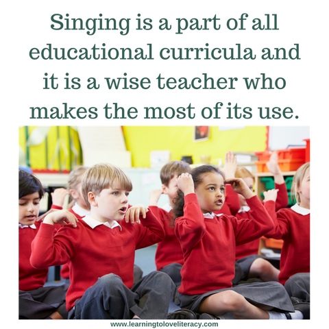 Children Singing in the Classroom