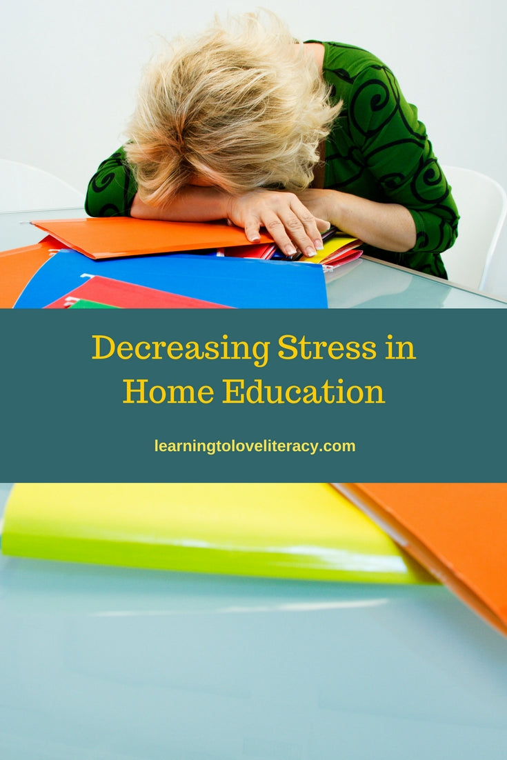 Decreasing Stress in Home Education