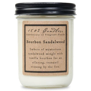 Bourbon Sandalwood Jar Candle