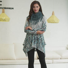 Abstract Tunic with Scarf