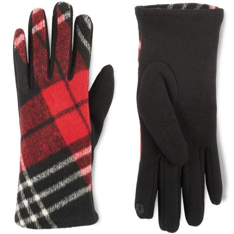 Artisan Plaid Stretch Touchscreen Gloves