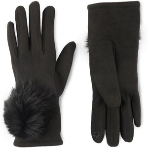 Microsuede Angora Touchscreen Gloves