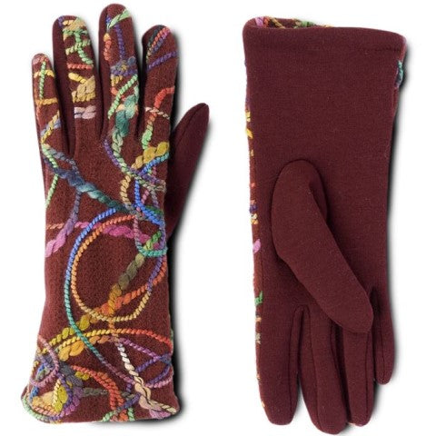 Stitched Stretch Touchscreen Gloves