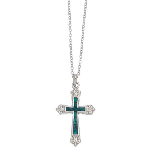 Vintage Accent Cross Necklace