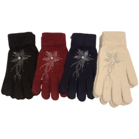 Floral Stretch Gloves