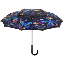 Moonlight Butterfly Reverse Close Stick Umbrella