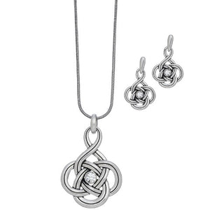 Celtic Knot Necklace & Earrings