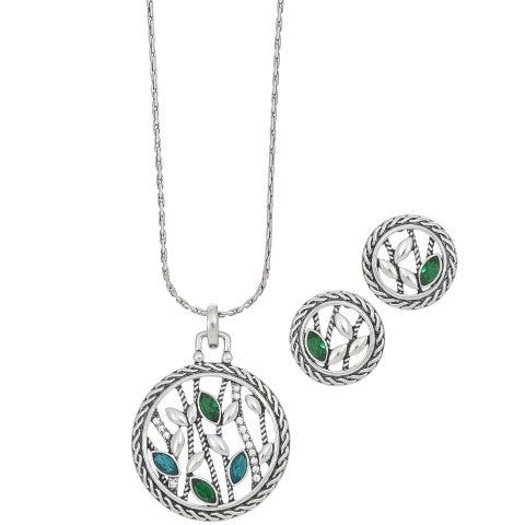 Open Circle Nature Necklace & Earring Set