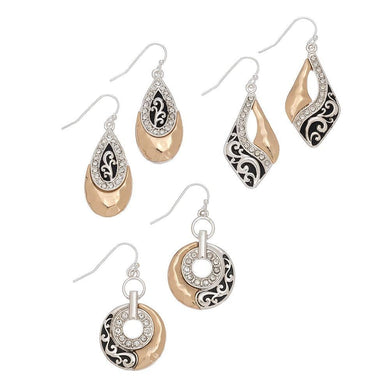Two-Tone/Stone Earring